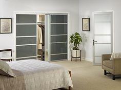closet doors create clutter free rooms