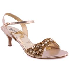 "dd6153bb7b3 Unze Women ""Molly"" Embellished Party Prom Wedding Kitten Heel Sandals UK  Size - SUJ 0017     Details can be found by clicking on the image."