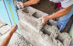 Simple Cinder Block House Plans Best Of How to Build A Cinder Block Wall Concrete Block Walls, Concrete Wall, Cement, Cinder Block House, Cinder Block Walls, Cinder Blocks, High Strength Concrete, Exterior Wall Materials, Retaining Wall Blocks