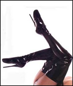 These erotic thigh high ballet boots are made from premium stretch patent leather and have a extreme 7 inch spike heel. They make a great boot for training or punishment, if a mistress wished to punish her slave.