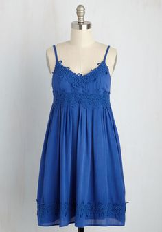 Main Stage Meet-Up Dress. Feeling free in this floaty, cobalt blue dress, you set off to explore the festival solo. #blue #modcloth