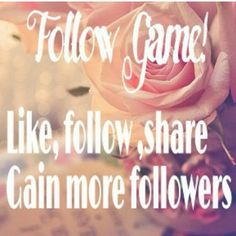 WANT MORE FOLLOWERS? Follow, like and share to grow your network. Other