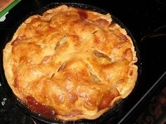 Cast iron skillet Apple Pie from Southern Living
