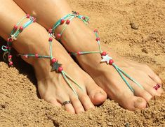 El blog de Dmc: Tutorial: Sandalias descalzas con Mouliné
