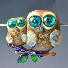 The Glass Owl #beads #jewelrycrafting #handmade #lampwork #glass #crafts #owls