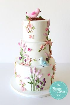 Country Baptism Cake - Cake by TheFamilyCakes ideas para mujeres Cute Cakes, Pretty Cakes, Beautiful Cakes, Amazing Cakes, Bolo Floral, Floral Cake, Cool Birthday Cakes, Birthday Cake Girls, Baptism Cakes For Girls
