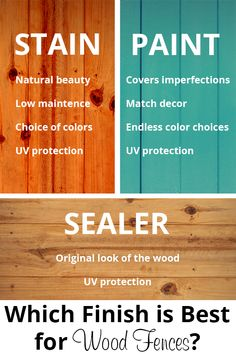 Which Finish Is Best For Your New Wood Fence? - Acre Life DIY Which finish is best for wood fences?