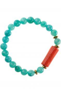 jade armband koralle vergoldet tuerkis
