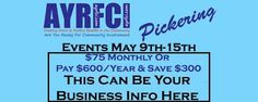 Pickering Events May 9th-15th https://www.facebook.com/events/229197314109010/
