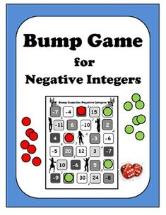 Algebra: Negative Integers Bump Game!