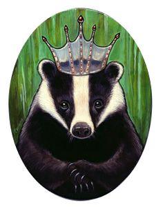 """King European Badger"" by Kelly Vivanco"