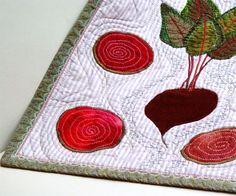 Beets & Pieces, Botanical Textile Art, Kitchen Decor