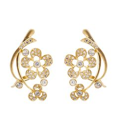Gold Stone Embellished Alloy Earrings #partyrange #jewellery #clutches #sarees
