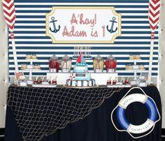 Nautical Boy Birthday Party Ideas