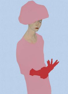 Portrait by Francesco Merletti (b.1966, live in Milano), 2009, Madreducata / Vado, oil and enamel on canvas. iL