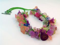 Spring Fling Acrylic Floral Necklace and by iKandiesJewelry, $60.00