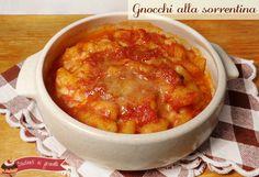 gnocchi alla sorrentina ricette primo gustoso ragu e mozzarella