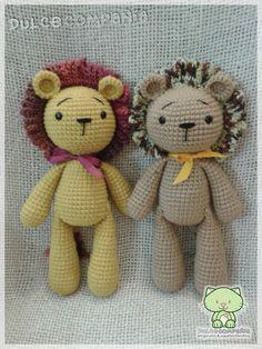 Leopoldo & Leonardo (32 cm de alto) - leones amigurumi - #Lion #Twins #amigurumi