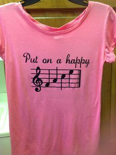 Fun t-shirt idea for music-lovers using heat transfer vinyl.