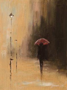 Painting Under an umbrella - Artist Marek Langowski