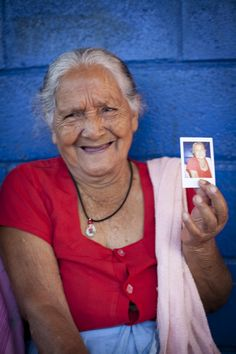 This 82 yr old woman very well may have never had her photo taken, something we can tend to take for granted. Our amazing photographer, Angela Lau (http://angelalau.com/) brought a Polaroid camera with her for our El Salvador, 2011 mission so she could give people that gift :) She thought of doing this after our Haiti, 2011 mission when many of the locals who had posed for a picture asked if they could have it after but she only had a digital camera.