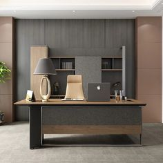 Modern Office Table, Contemporary Office Desk, Office Table Design, Office Furniture Design, Office Interior Design, Office Interiors, Luxury Office, Ceo Office, Modern Executive Desk