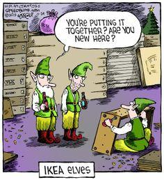 Funny Cartoons-Santa