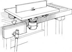 Fold-away router table (PDF) plans