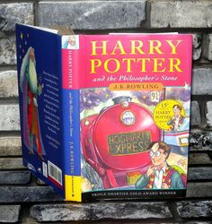 """Author - J. Title - Harry Potter and The Philosophers Stone. Hardback Harry Potter Book with Original Dustjacket, Dated 2000 Making this a Reprint, There is a Number Line -. Years Of Harry Potter Magic"""". Harry Potter Magic, Harry Potter Books, Philosophers Stone, Book Show, Hogwarts, Dj, Author, Learning, Ebay"""