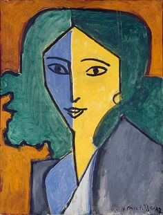 Henri Matisse Famous Paintings | Portrait of Lydia Delectorskaya,1947 | Matisse | The State Hermitage ...