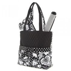 Belvah Black  amp  White Quilted Floral 3 Pc Diaper Bag www.BagLane.com 77c8ac73ee
