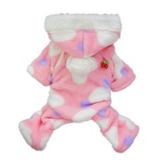 Pink Sweetie Dog Coat for Dog Clothes Dog Jumpsuit Soft Cozy Pet Clothes Pet Coat Free Shipping,M $11.79