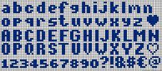 ABC Alphabet perler bead pattern