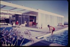 Freshly digitized, gorgeous contemporary images of Southern Californian midcentury modern architecture | Pierre Koenig's Oberman Residence in Rancho Palos Verdes (1962?), photo by Pierre Koenig | Archinect