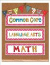 Common Core 3rd Grade cute red and white polka dot  posters - can be displayed in pocket charts.