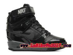 Femme Nike Air Revolution Sky Hi GS Noir Chaussures Pas Cher 599410-009