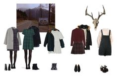 """""""Twin Peaks inspired outfits"""" by pink-era-the1975 ❤ liked on Polyvore featuring MANGO, SPANX, Topshop, Polo Ralph Lauren, Dorothy Perkins, StyleNanda, Zimmermann, Humör, Therapy and Siwy"""