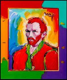 Vincent Van Gogh Pop Art Portrait by Peter Max    Vincent Van Gogh Pop Art Portrait by Peter Max