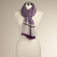 Purple Tribal Scarf. world market