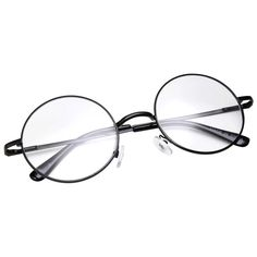 76c776ad02aa4 grinderPUNCH - Non-Prescription Round Circle Frame Clear Lens Glasses Small  B..