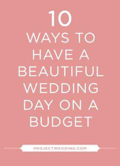 Wedding Tip: 10 Ways to have a beautiful wedding on a budget! best money saving tips frugal wedding Ideas Wedding Advice, Wedding Planning Tips, Budget Wedding, Plan Your Wedding, Wedding Costs, Wedding Budgeting, Event Planning, Wedding Beauty, Dream Wedding