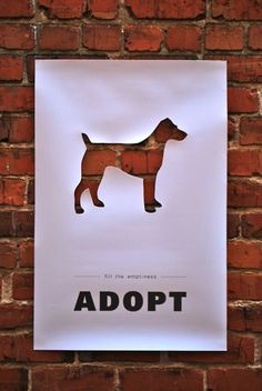 Adopt - Fill the loneliness #poster #posters #design