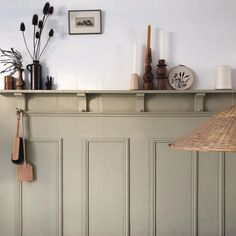 an ode to au natural. / sfgirlbybay kitchen with gray painted molding and storage shelf. Home Interior, Interior Design Kitchen, Interior Architecture, Home And Deco, My New Room, Home Decor Inspiration, Decoration, Living Spaces, Sweet Home