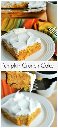 Pumpkin Crunch Cake - The only Fall dessert you will ever need!!!