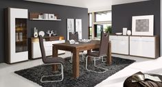 Гостиный стол Marlin  Серия модульной гостиной и столовой мебели, с элементами шлайфлак !    Индивидуальное планирование с помощью разнообразных модулей!