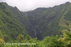 Vaiharuru Falls (near Hitiaa, Tahiti, French Polynesia) Tahiti Nui, French Polynesia, South Pacific, East Side, Waterfalls, Islands, River, Mountains, World