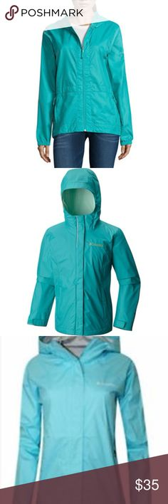 COLUMBIA Teal Blue Windbreaker Excellent condition Columbia windbreaker. Light yet Durable. Columbia Jackets & Coats