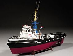 Billings Banckert Model Boat Kit, This vessel was built in 1965 at the N. Scheepswerven in Millingen, Holland, and called Maasbank. In September 1977 it was renamed Banckert. Model Ship Kits, Model Ships, Ship In Bottle, Model Boat Plans, Boat Kits, Tug Boats, Small Boats, Boat Building, Sailing
