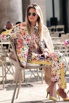 Denim Espresso: Attitudes & Suiting Up in Florals