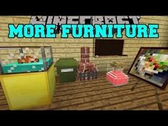 PAT AND JAN Minecraft PopularMMOs MORE FURNITURE! AQUARIUM, GARBAGE CAN,...